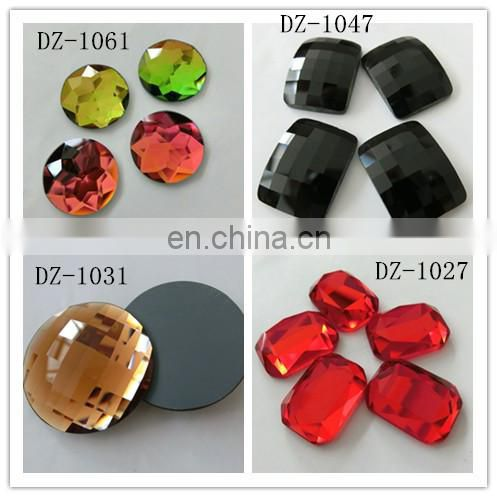 fancy glass beads with holes for garment decoration