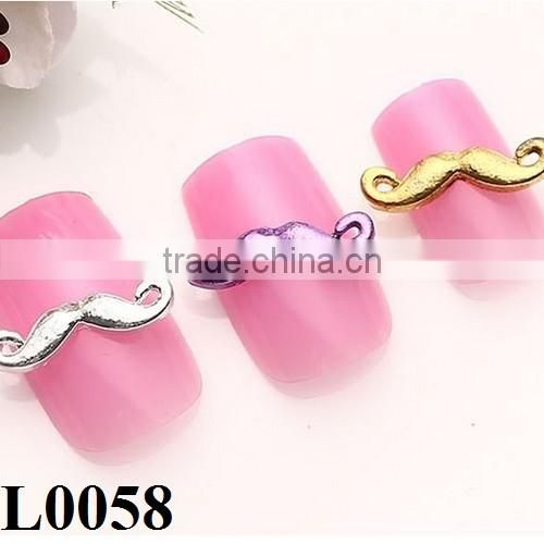 3D Nail Art Jewelry Alloy Mustache Nail Sticker Art Decoration For Wholesale L0058