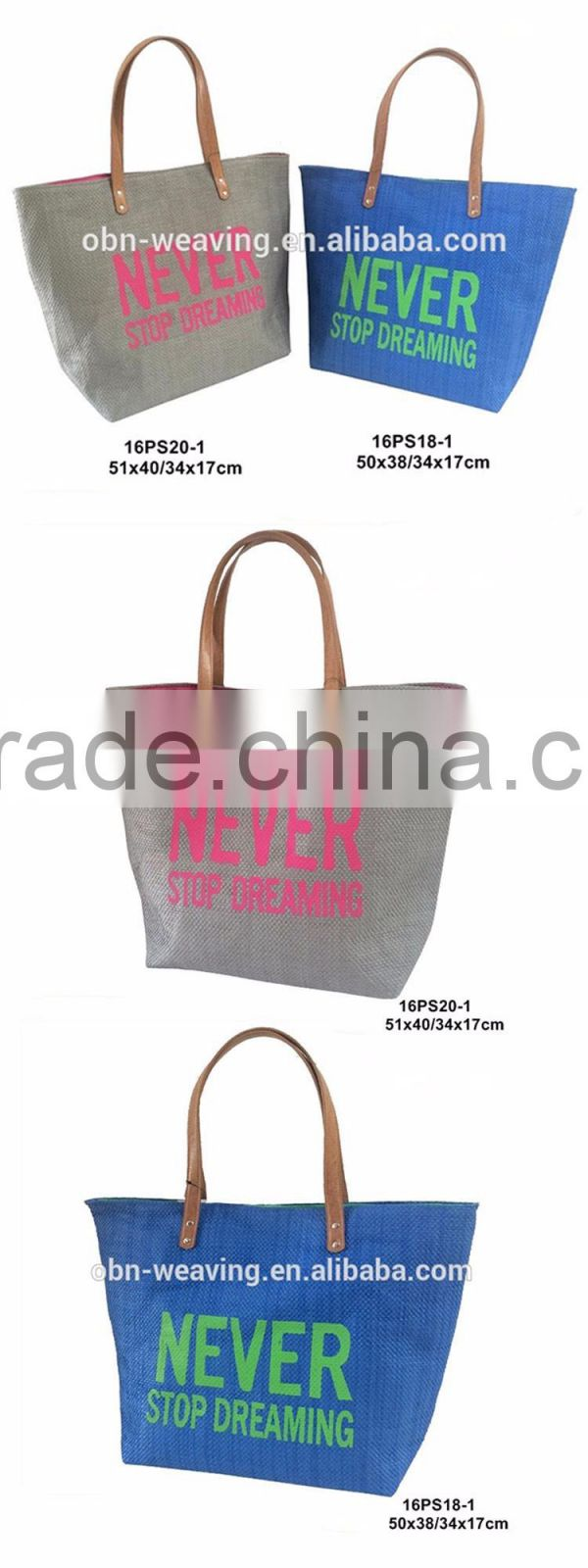 China wholesale custom Cheap fashion colorful paper straw summer beach bag for girl