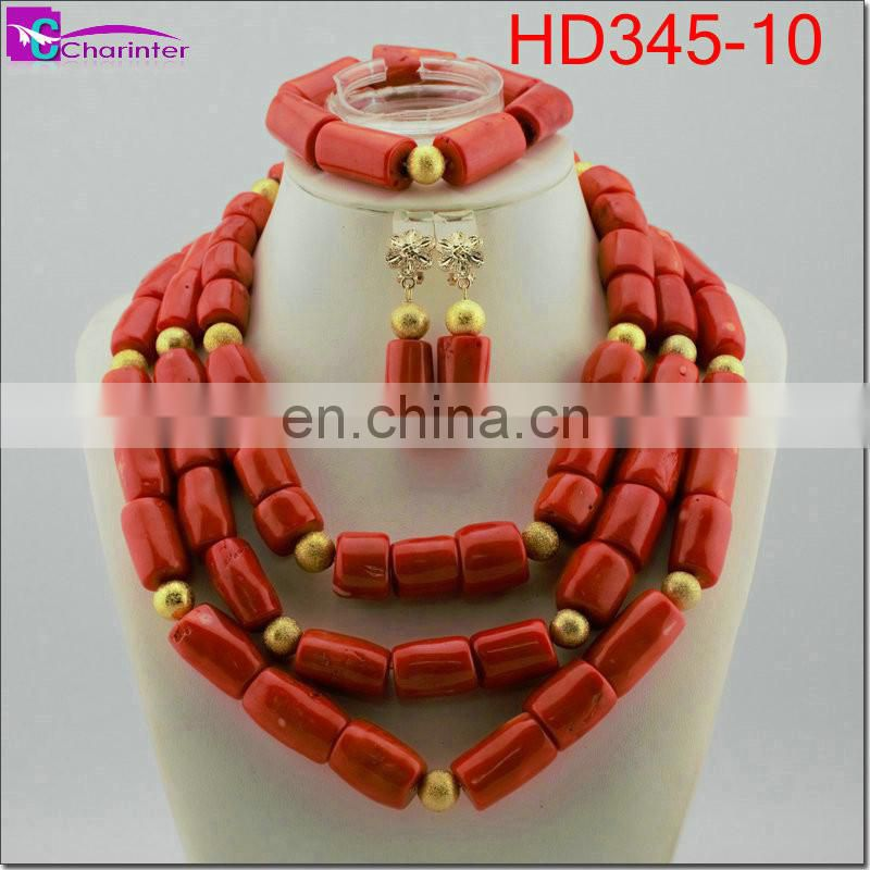 coral beads jewelry sets HD345-10