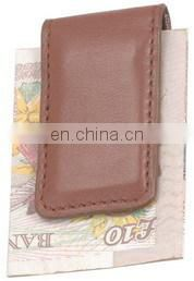 WHOLESALE FACTORY MAN LEATHER MONEY CLIP EXPORT