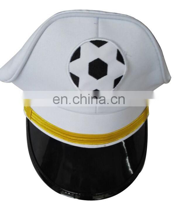 France cotton white dress cap with football logo patch