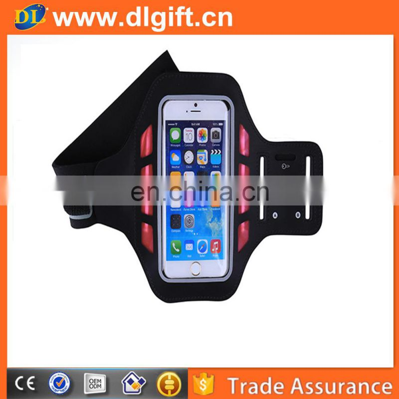 armband case mobile phone sport armband case with key holder nylon led glowing armbands