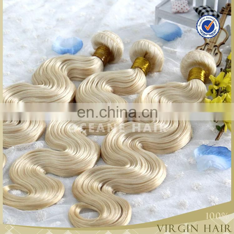 Cheap white brazilian virgin hair extension