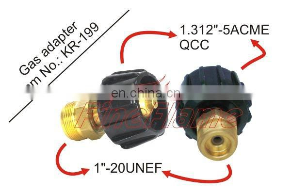 Adjustable high pressure brass gas regulator adapter with alibaba china lpg gas tank adapter