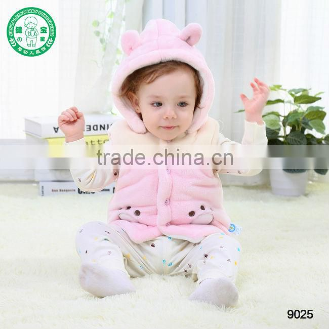 #9025** winter child clothes kids hit vest ,baby boy & girl hooded thick waistcoats, baby vest