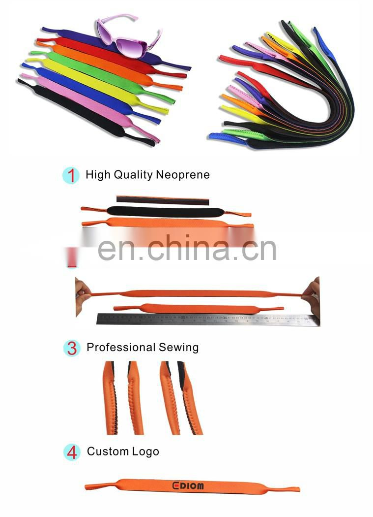 Custom printing Neoprene glasses strap in assorted colors - Spandex fabric very elastic
