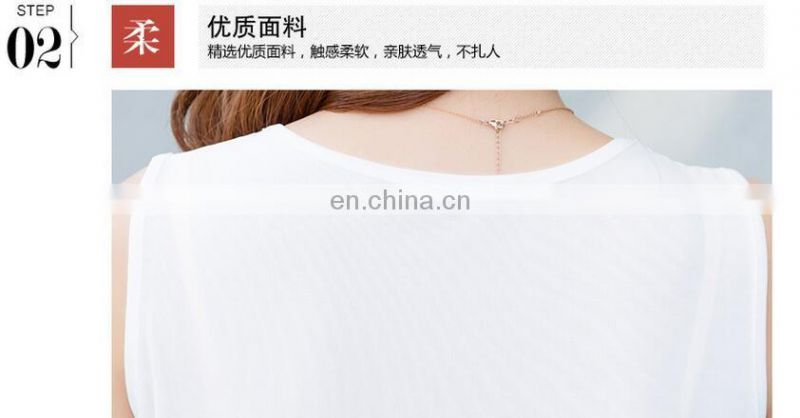 High quality embroidered casual women top clothes