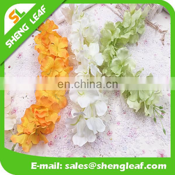 custom polester hawaii flower Lei colorful 33cm long for wedding festival and decoration