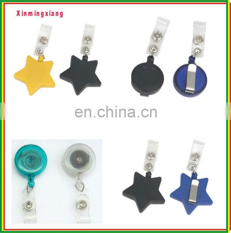 Novelty hearted shape decorative retractable pull reel badge holder for promotion