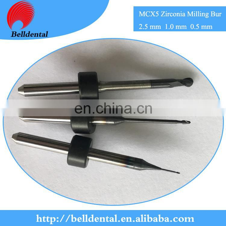 CAD CAM System DLC Coating Dental Zirconia Milling Burs for Sirona MCX5