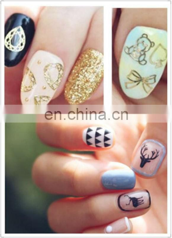 Latest wholesale nail art heat transfer nail sticker