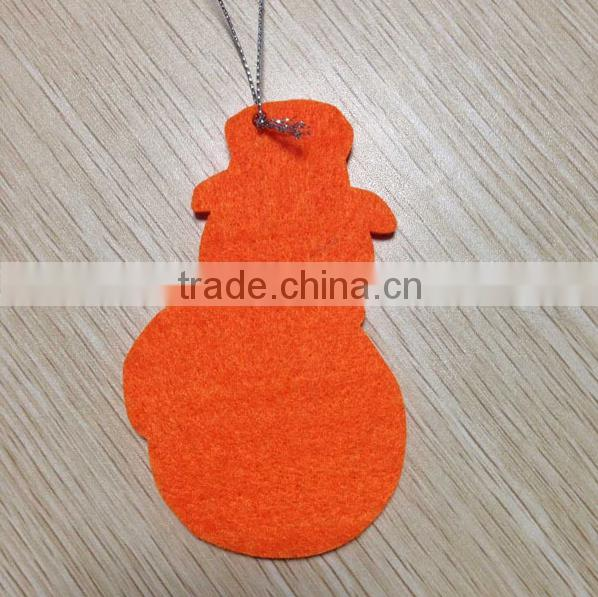 Custom felt Christmas hanging ornament christmas decoration supplies