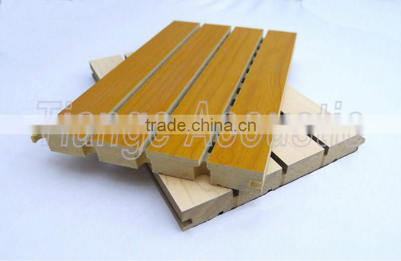 Light weight And Colorful Mineral Fiber Acoustic Ceiling Tile For Cinema And Indoor Decoration