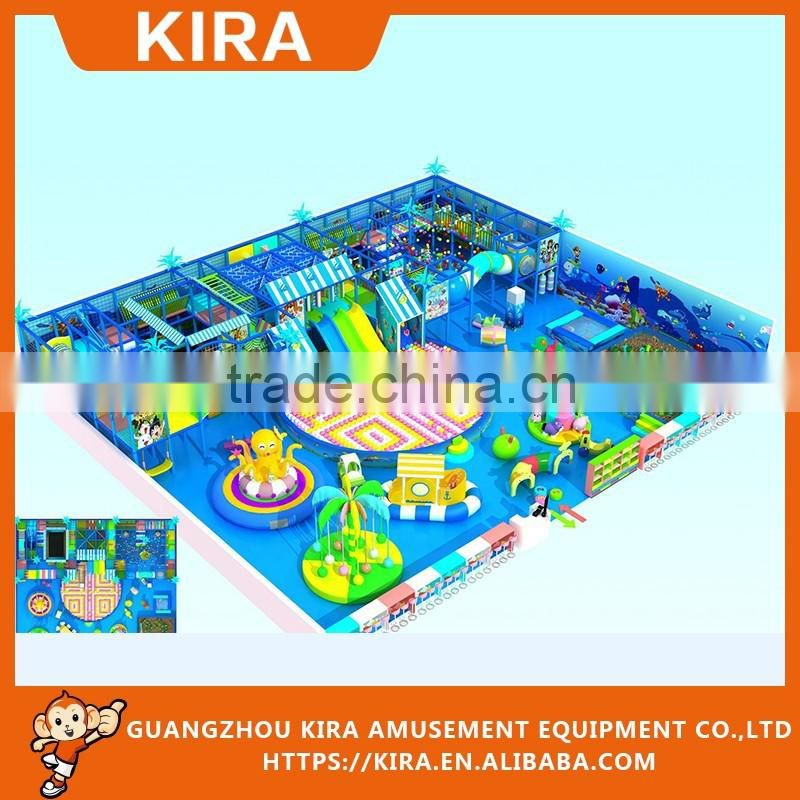 Soft indoor playground equipment naughty castle with ball pools for children