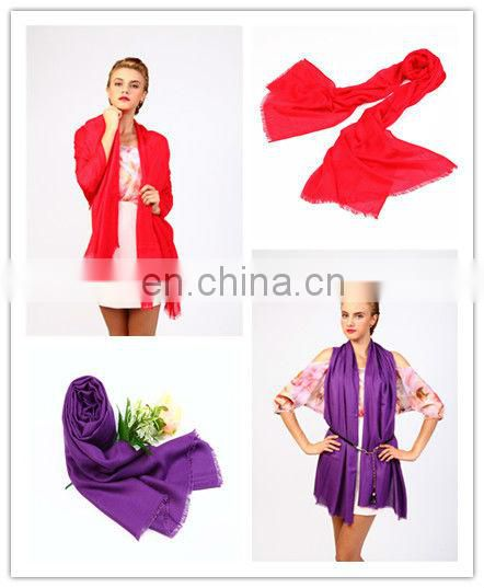 2013 bright solid color viscose fashionable custom made scarf