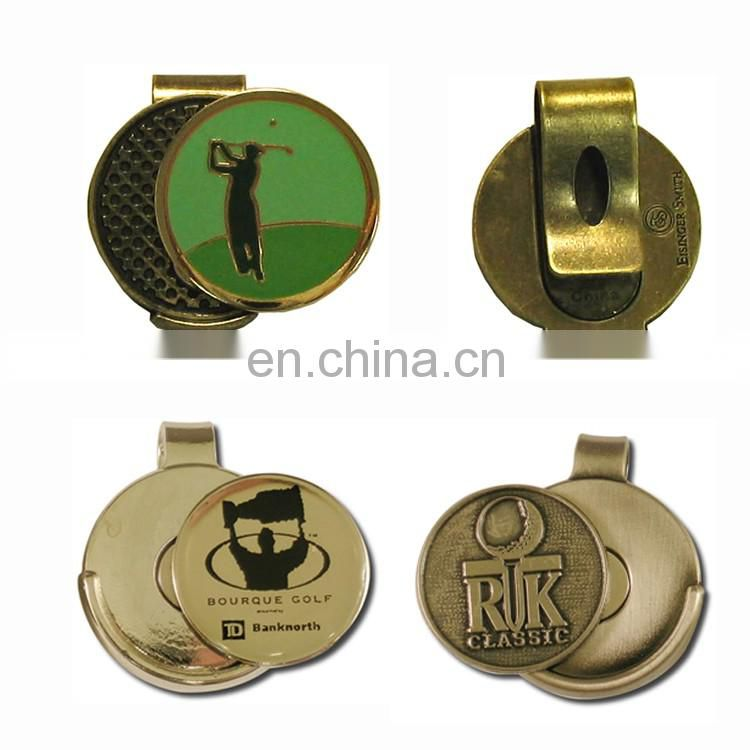 Free OEM design golf accessories magnetic golf ball marker hat clip for bussiness gifts