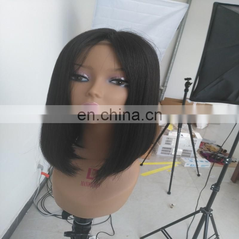 Factory direct sale full lace human hair wigs short bob hair style hair wigs with 4x4 silk top