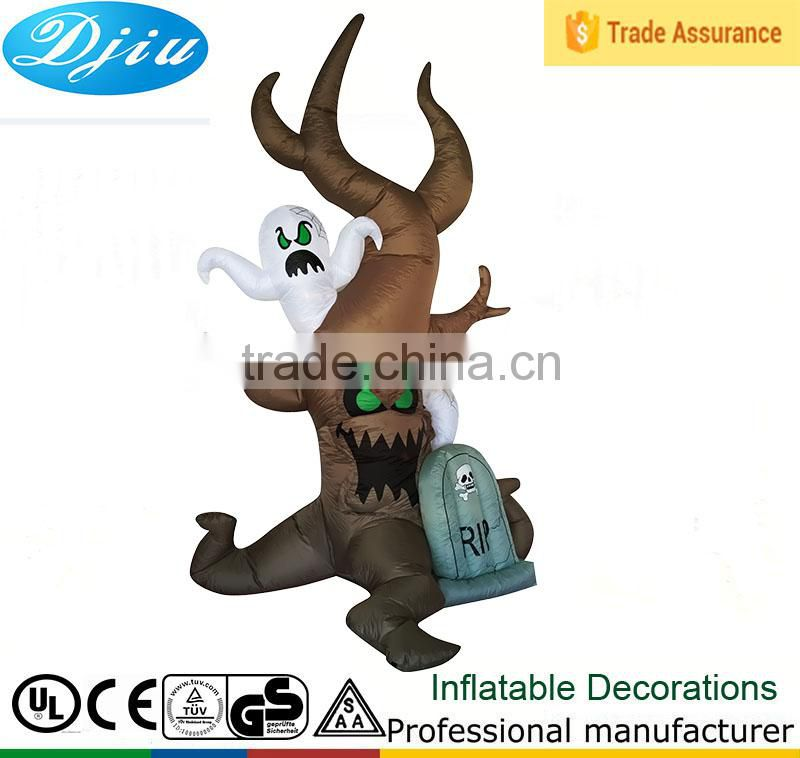 DJ-XT-104 Hot selling festival promotional inflatable ghost and ghost tree halloween bloodcurdling halloween products