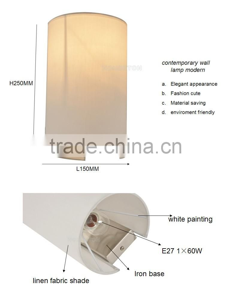 Contemporary fabric CE wall lamp modern,Fabric CE wall lamp,Wall lamp W1032