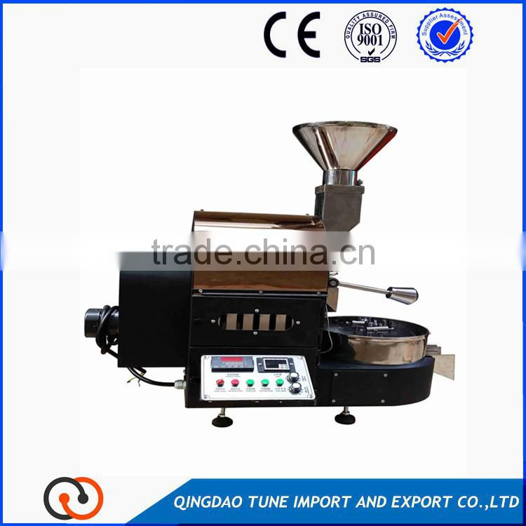 1kg/batch coffee roaster with fast cooling system 2-3 minuts of