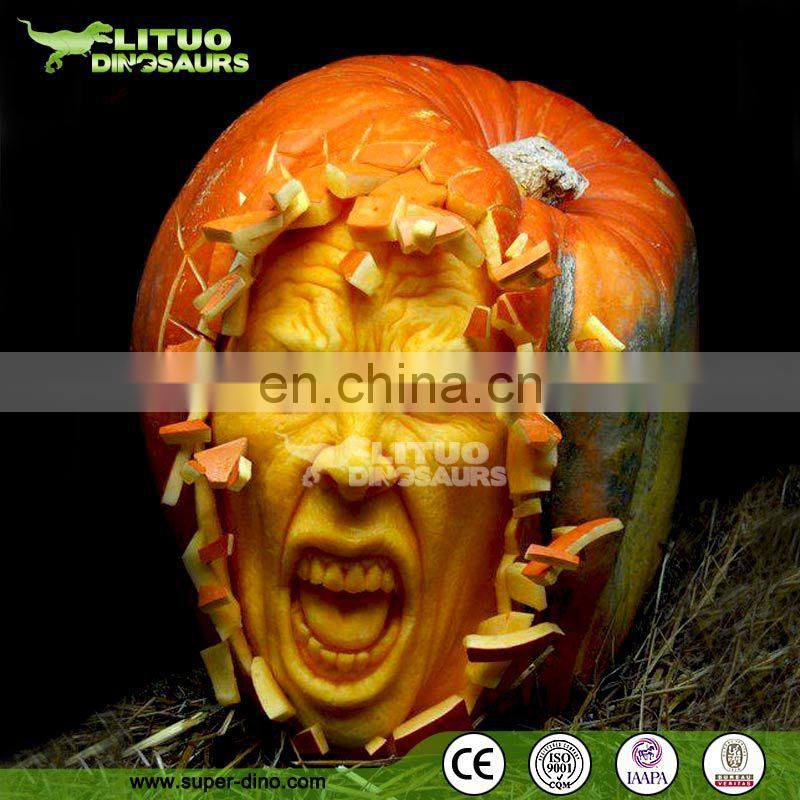Customize Fiberglass Halloween Pumpkin