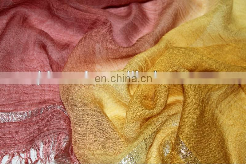 fashion modal scarf fabric 93%modal &7%filmentary silver thread scarf SDV-007