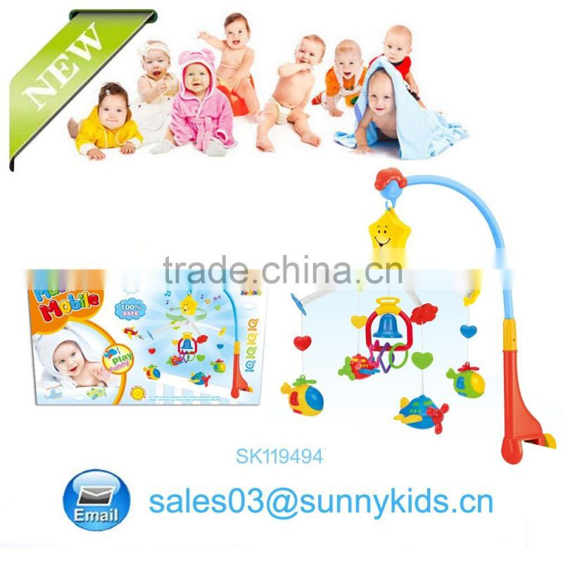 Plastic baby musical hanging toys bed rattle for infant