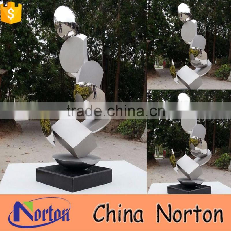 large stainless steel sculpture for business decoration NTS-594X