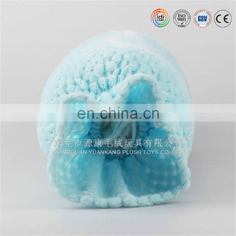 Lovely blue candy shaped plush pillow