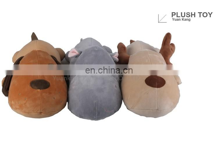 2016 new design items plush hippo toy with new fabric