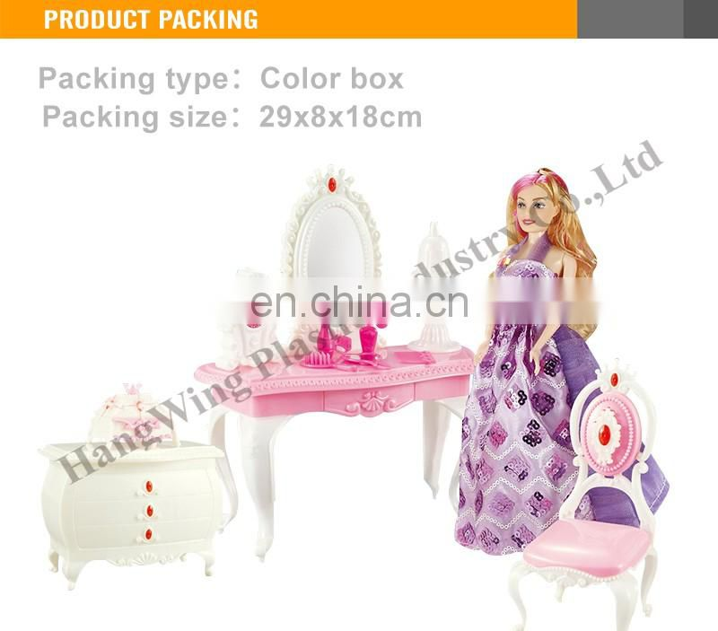 High Quality Pink Girls Toy Dresser Miniature Doll House Furniture