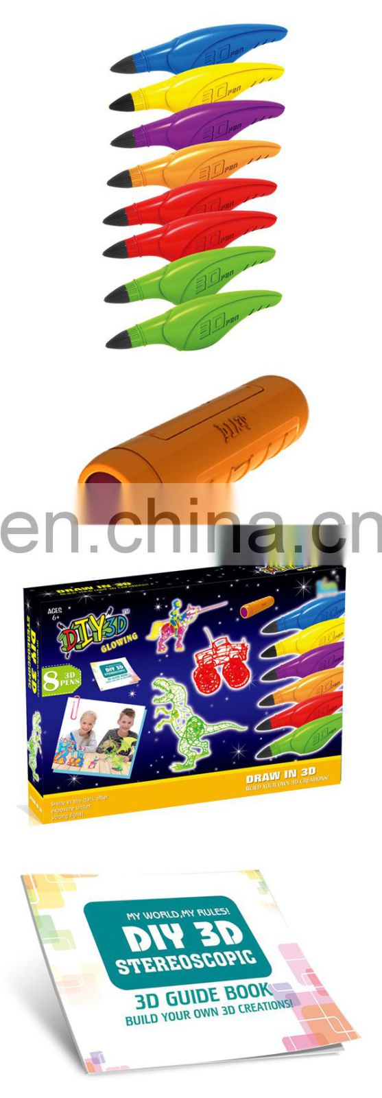Fine workmanship kids diy game 3d printer pen toys with specification