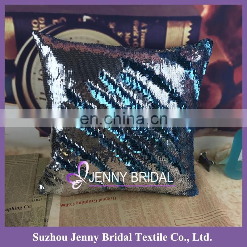 SQP022A reversible sequin fabric reversible sequin pillow