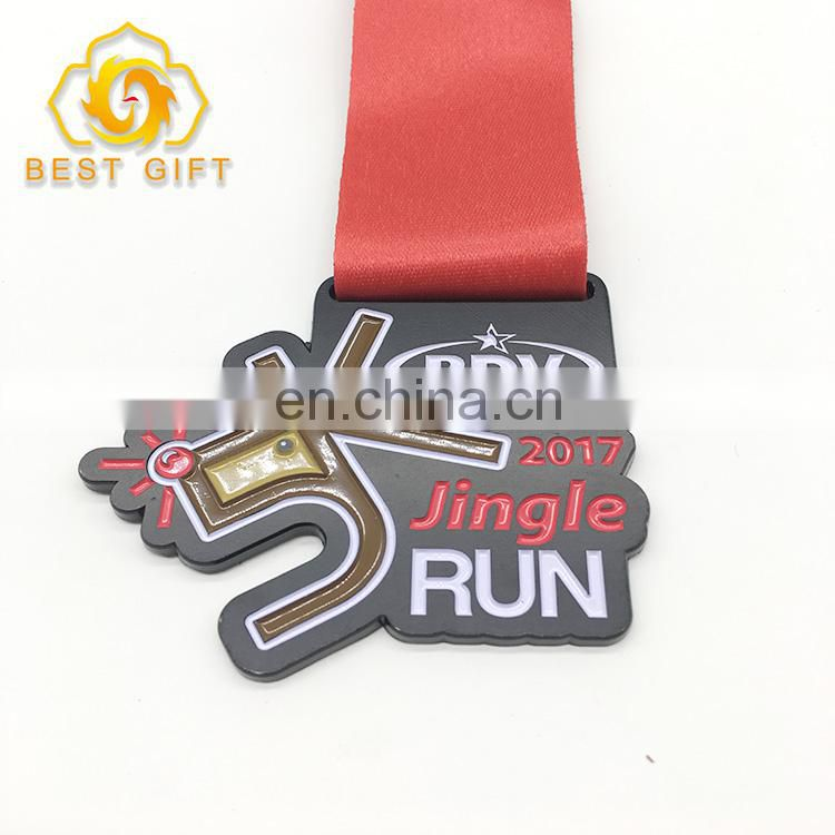 Manufacturer Custom Sports Souvenir Metal Running Medal With Lanyards