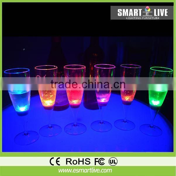 liquid active led champagne glass for party or celebralation