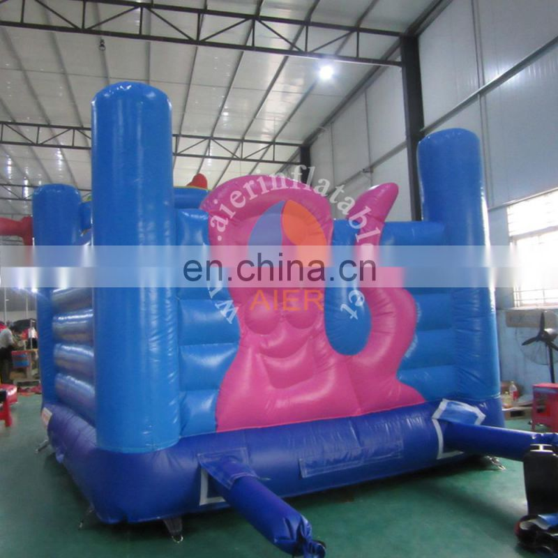 Outdoor kid sea world inflatable castle.