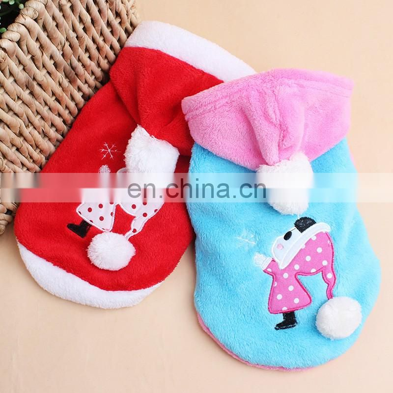 2016 new arraival pet dogs christmas deer clothing with cap coral cashmere pet clothing