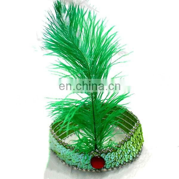 (DX-JQ-0461)RED OSTRICH FEATHER CARNIVAL HEADPIECES EQUIPMENT