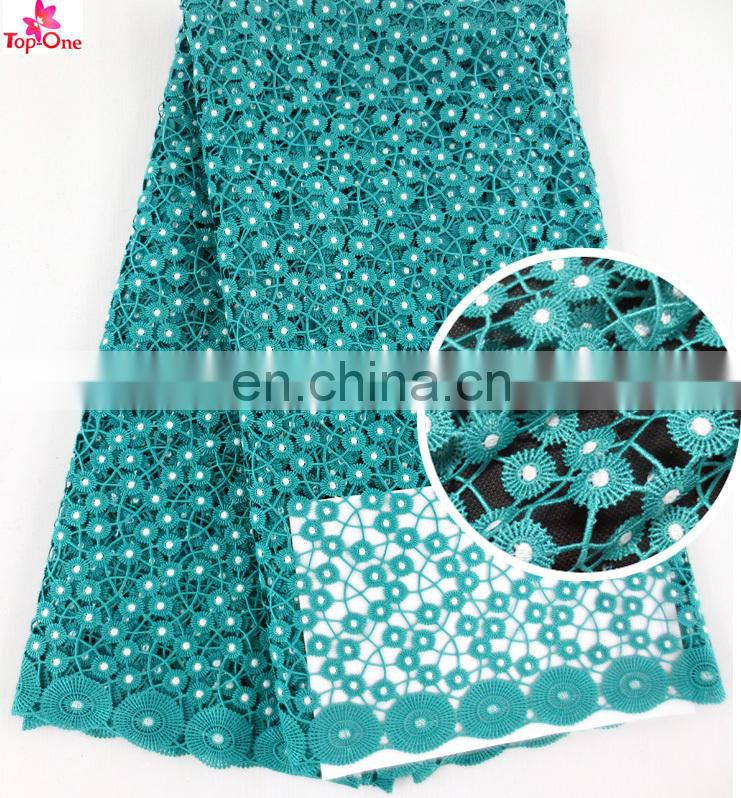 Wholesale weidding lace materialAfrican bridal lace teal colorGuipure lace