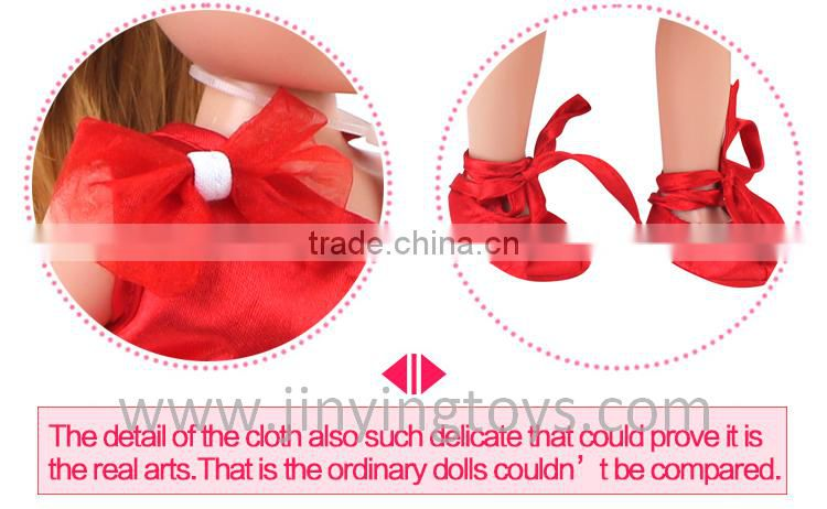 Red ballet dress 18 inch toy doll with EN71