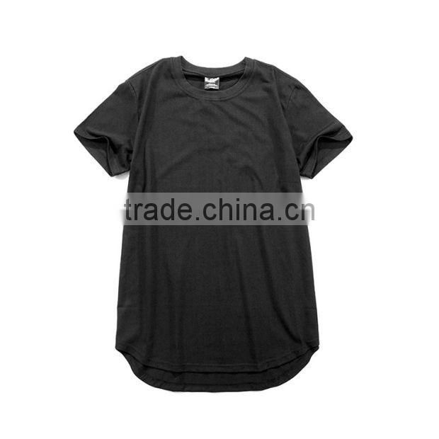 New Men 100 cotton plian long line t shirt HipHop Elongated Style Tee