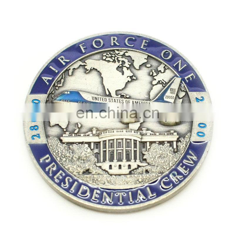 Zinc alloy casting gold coin custom made souvenir