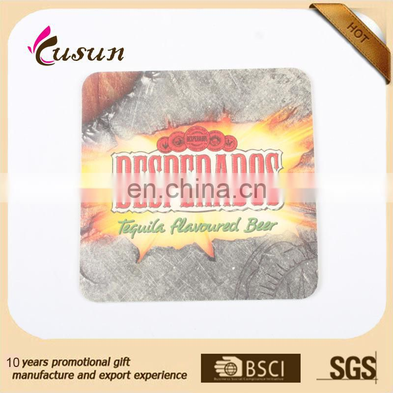 Cheap Promotion Printed Absorbent Paper Cup Coaster
