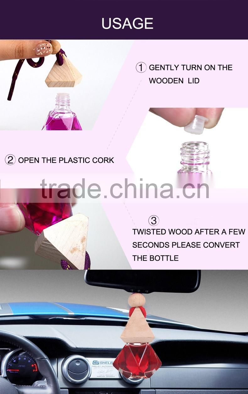 Hot wholesale hanging bottle car air freshener, vegetable