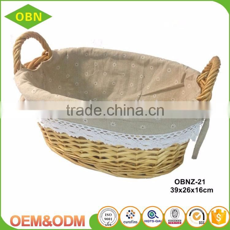 China manufacture export good quality custom Promotional cheap holiday wicker gift baskets