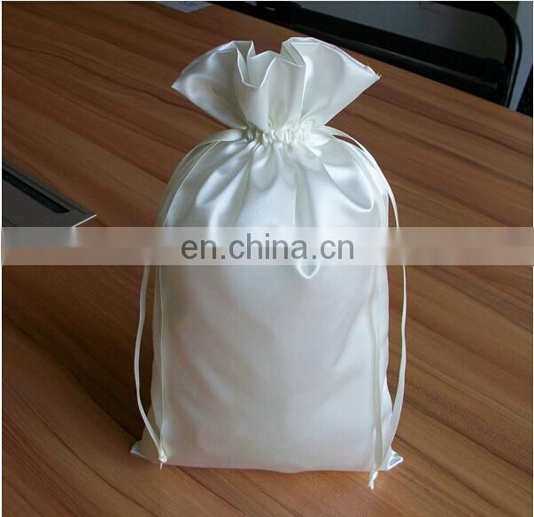 Satin Bag Hair Extension Packaging With Customized Logo