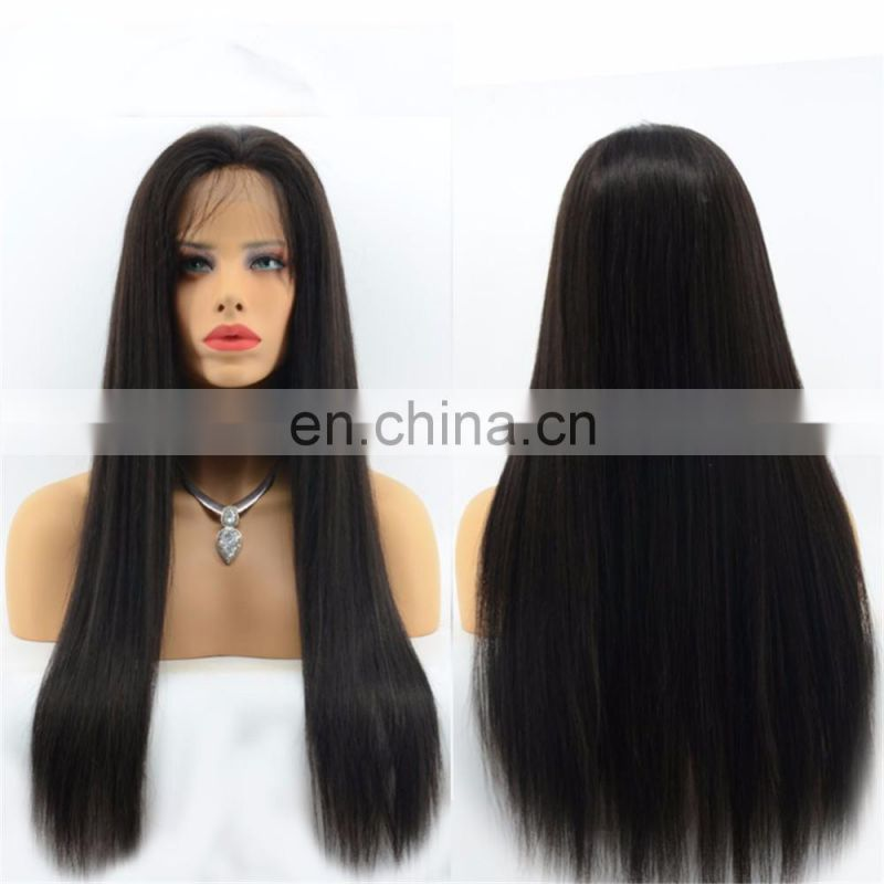 Natural Girls Hair Wig Unprocessed Virgin European Hair Silky Straight Glueless Ponytail Lace Front Wig With Fair Wig Packaging