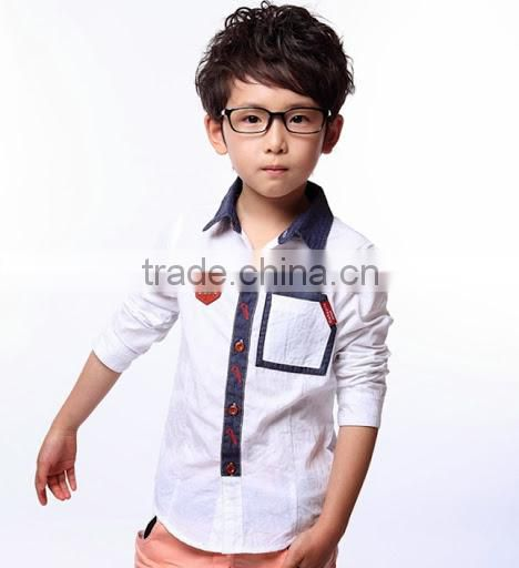 Fashion Printing Pattern Children Clothing Bigger Sizes Kids Boy Shirts