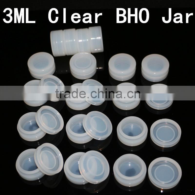 Transparent 3ml silicon oil jars non stick essential oil bho container for wax vaporizer pen Image